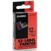 Casio XR-18RD1, 18mm x 8m, black text/red tape, original tape