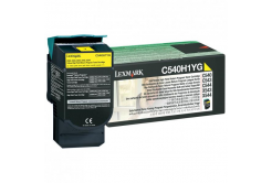 Lexmark original toner C540H1YG, yellow, 2000 pages, return, high capacity, Lexmark C540, X543, X544, X543, X544