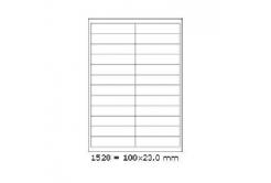 Samolepicí etikety 68 x 50 mm, 15 etiket, A4, 100 listů