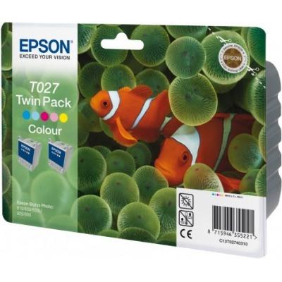 Epson C13T027403 color original ink cartridge