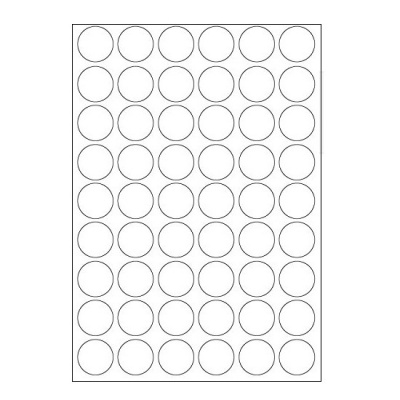 Selfadhesive labels 30 x 30 mm, 54 labels, A4, 100 sheets