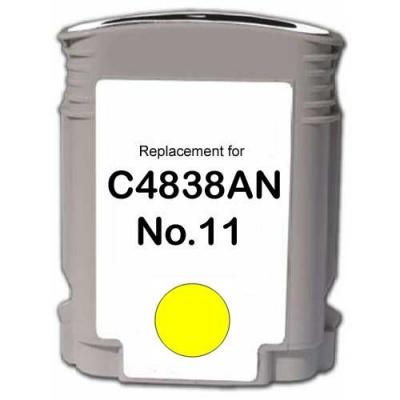 HP 11 C4838A yellow compatible inkjet cartridge